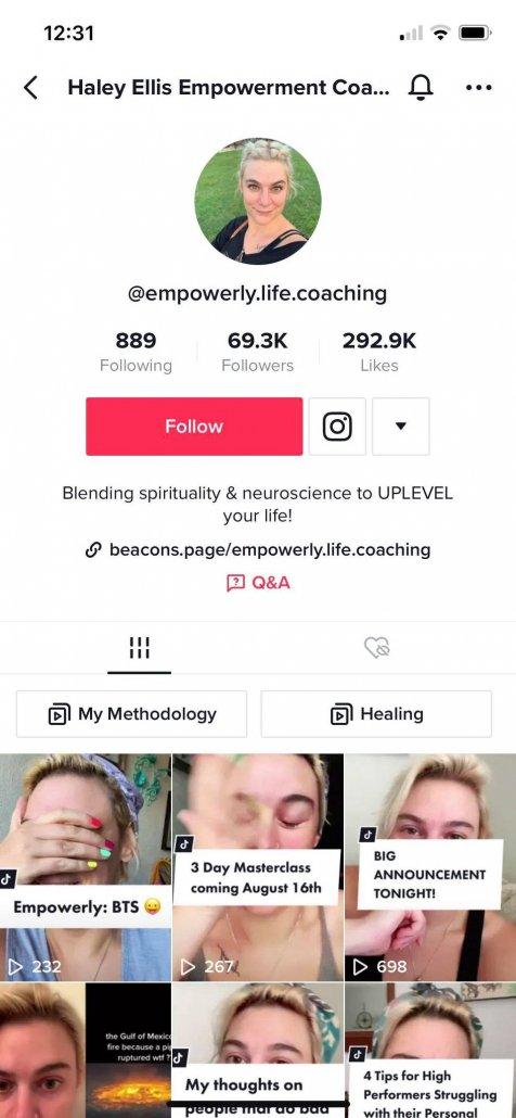 TikTok Life Coaches Profile