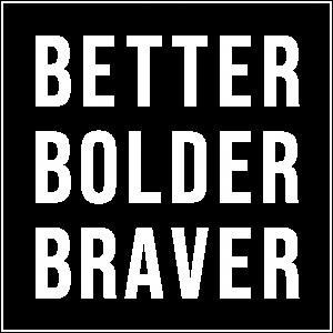 BBB logo white outline