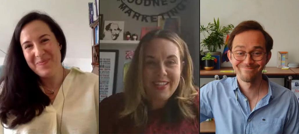 Frances, Karen and Simon on the Ethical Marketing with Karen Webber Crowdcast session
