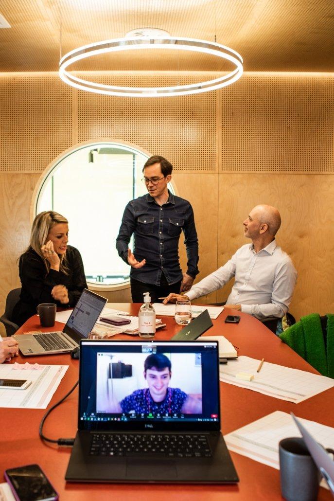 Simon Batchelar Leading marketing training session for Marketing Success Club
