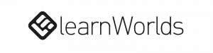 learnWorlds logo huge banner